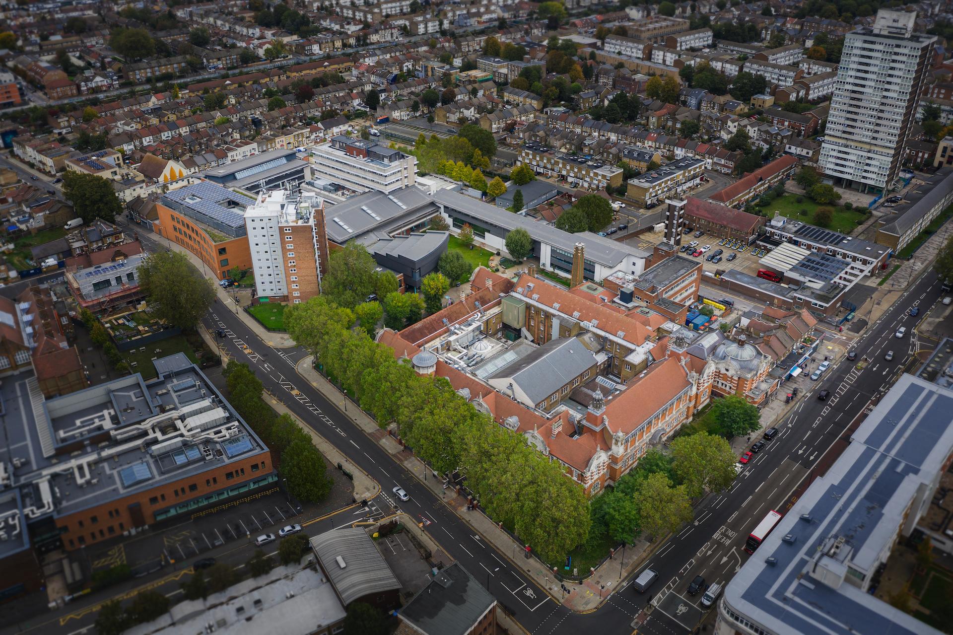 Aerial photo of Stratford